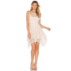 Free People Just Like Honey Dress SZ 12 Ivory Lace